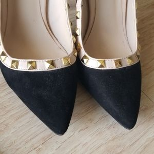 Charlotte Russe Studded Pointed Toe Heels